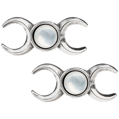 Triple Goddess Stud Earrings
