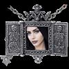 Balkan Triptych Icon Locket