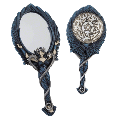 Black Angel Hand Mirror