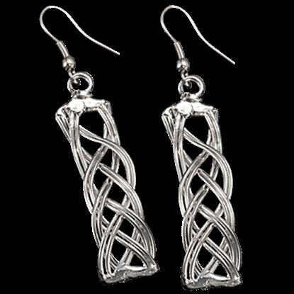 Woven Silver Knot Earrings