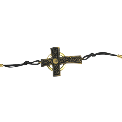 Antique Brass Cross Bracelet