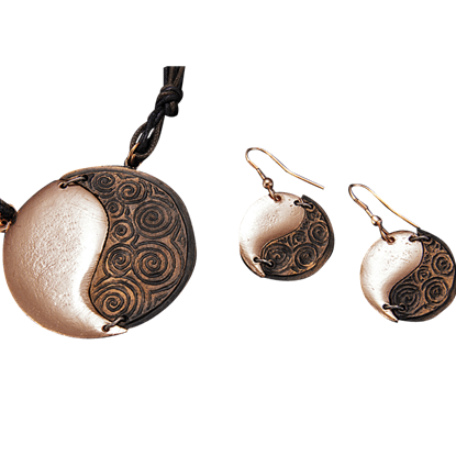 Copper Yin Yang Jewelry Set