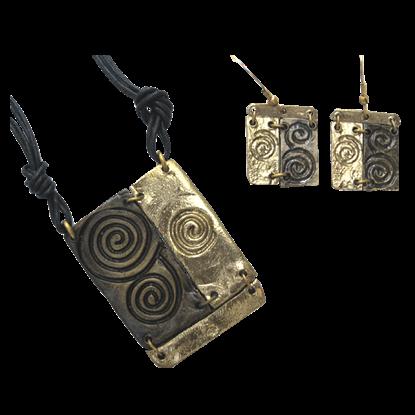 Brass Spiral Jewelry Set
