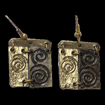 Brass Spiral Earrings