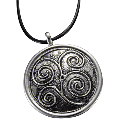 Silver Scrollwork Necklace