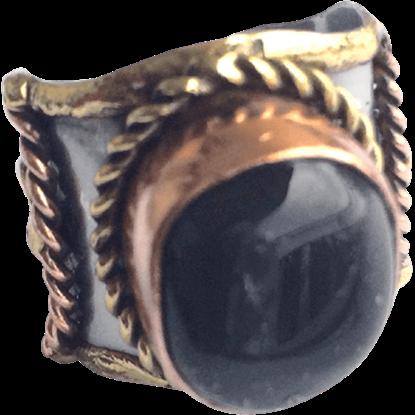 Braided Dark Agate Cuff Ring