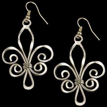 Gold Fleur de Lis Artisan Earrings