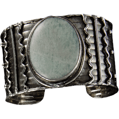 Antique Silver Amazonite Bracelet