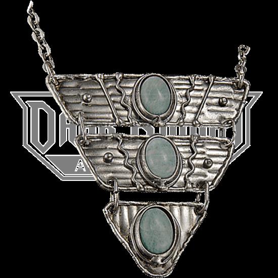Amazonite Silver Triangle Tier Necklace