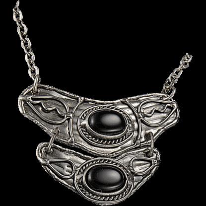 Black Onyx Silver Tier Necklace