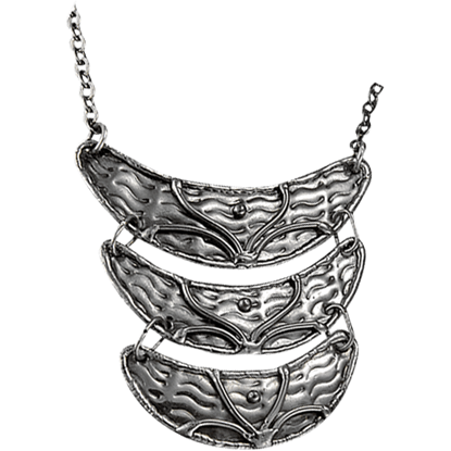 Antique Silver Three Tier Necklace