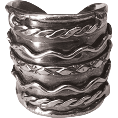 Antique Silver Twists Cuff Ring