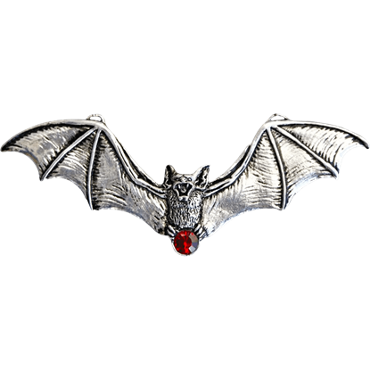 Flying Jeweled Vampire Bat Necklace