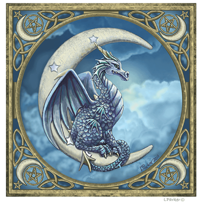 Lisa Parker Moon Dragon Greeting Cards
