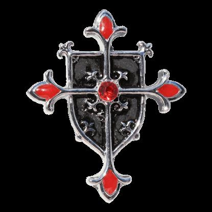 Templar Shield Cross Necklace