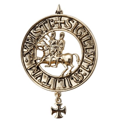 The Two Riders Templar Necklace