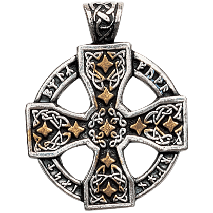 Runic Celtic Cross Necklace