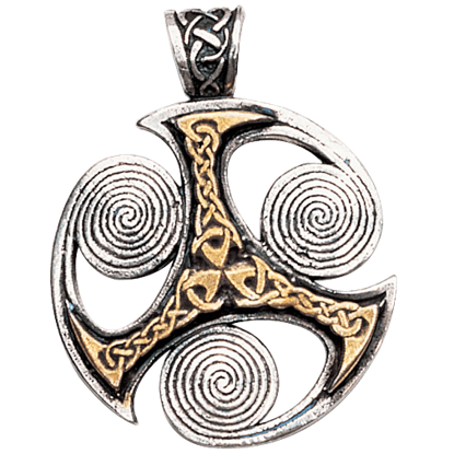 Triskelion Spirals Necklace