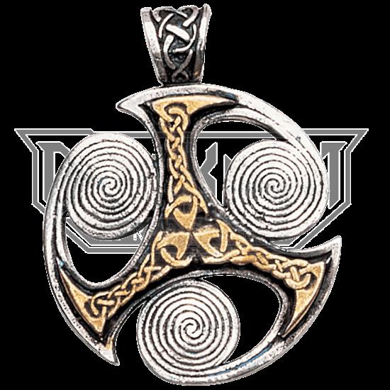 Triskelion Spirals Necklace