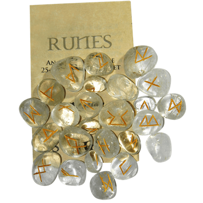 Crystal Quartz Set of Rune Stones