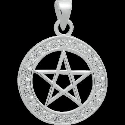 Bejeweled Pentagram Pendant