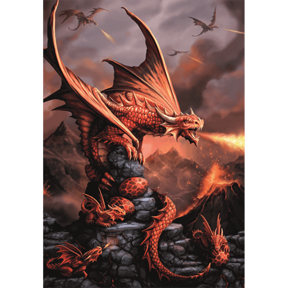 Fire Dragon Cards 6 Pack