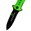 Biohazard Folding Serrated Stiletto Pocket Knife