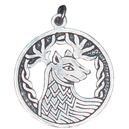 Alban Elfed Stag Charm Pendant