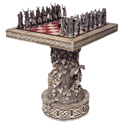 Arthurian Chess Table With Display Base