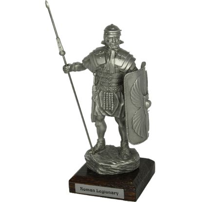 Pewter Roman Legionnaire Sculpture