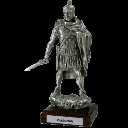 Pewter Roman Centurion Sculpture
