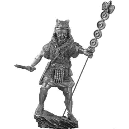 Pewter Roman Signifier Sculpture