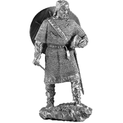 Pewter Viking Chief Sculpture