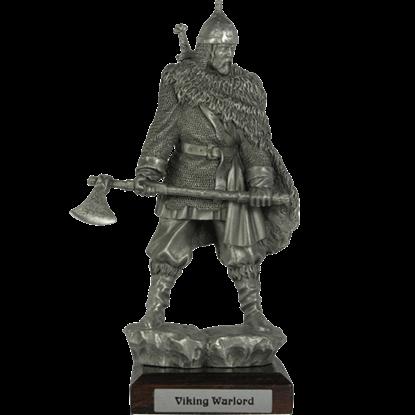 Pewter Viking War Chief Sculpture