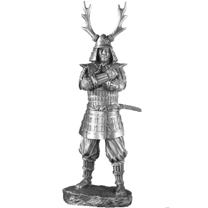Pewter 17th Century Samurai Sculpture
