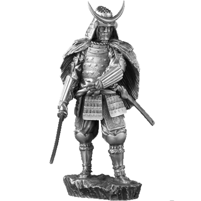 Pewter 16th Century Samurai Sculpture