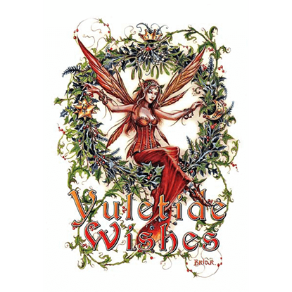 Mistletoe Fairy Yule Cards by Briar