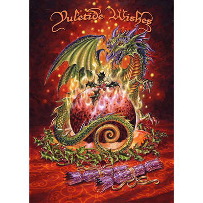 Dragon Pudding Yule Cards by Briar