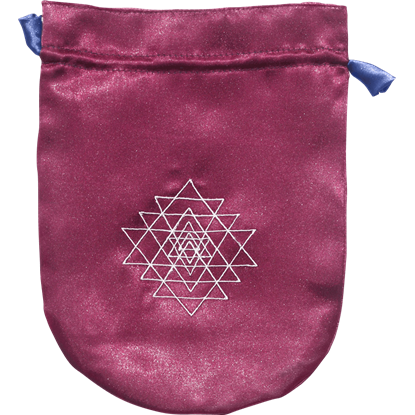 Purple Satin Sri Yantra Bag