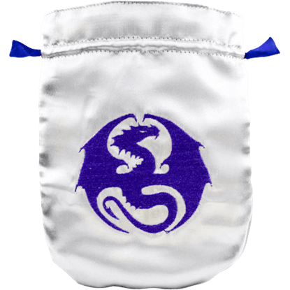 Silver Satin Dragon Bag