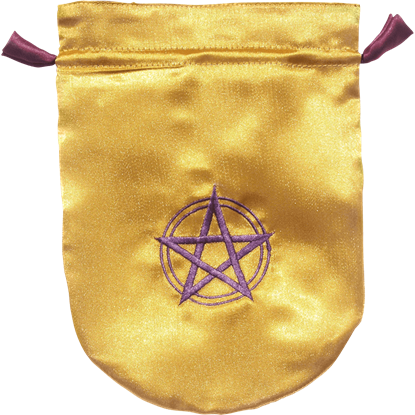 Yellow Satin Pentacle Bag