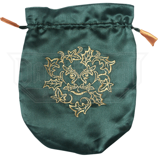 Green Satin Greenman Bag
