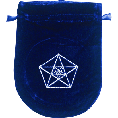 Blue Velvet Triple Pentagram Bag