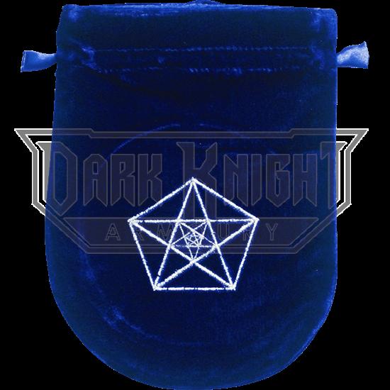 Blue Velvet Triple Pentagram Bag