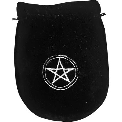 Black Velvet Pentagram Bag
