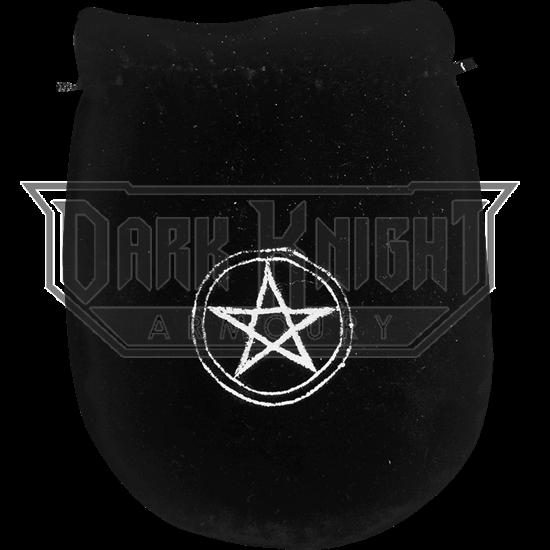 Black Velvet Pentagram Bag