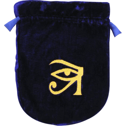 Blue Velvet Eye of Horus Bag