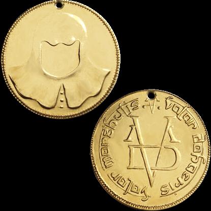 Drilled Brass Faceless Man Coin