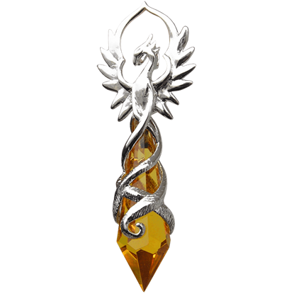 Phoenix Flame Crystal Keeper Necklace