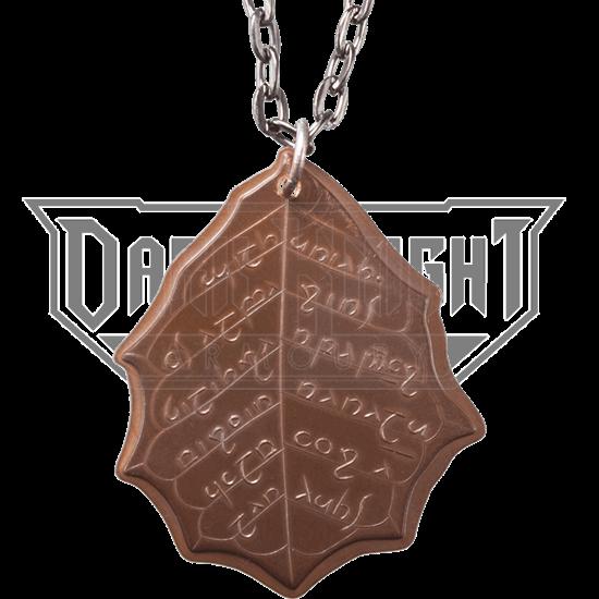 Elvish Copper Leaf of Fall Necklace